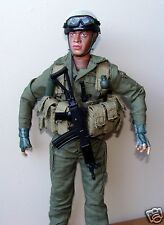 """1:6  Armour IDF Israel Army Forces Paratrooper Galil Rifle Soldier Figure 12"""" B"""