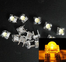 10Pcs 5mm F5 wh best LED Yellow Round Head Super Bright Light Emitting Diode