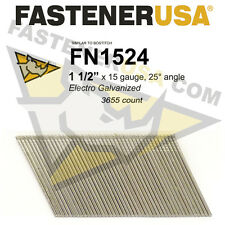 "FN1524 15 gauge Angled Finish Nails 1 1/2"" (FN1500 series) 25 degrees 3655ct"