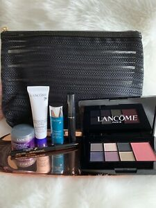 NEW LANCOME Gift Set 7 Pieces Makeup/Skincare Travel Set W/Cosmetic Ba