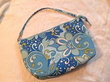 Chateau Handbag, blue paisley, FREE Shipping! Medium size, nice condition, nylon
