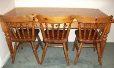 Farmhouse Pine Table And Six Chairs