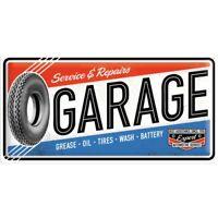 Letrero de Metal Grande Garaje Taller, Signo de la Nostalgia 50CM Nuevo