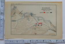 MAP/BATTLE PLAN DUNBAR SEPT 3rd 1650 ENGLISH & SCOTCH TROOPS POSITIONS BELHAVEN