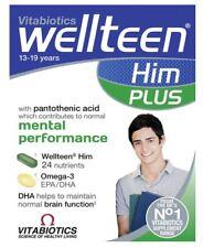 Vitabiotics Wellteen Him Plus - 56 Tablets/Capsules Mental Performance