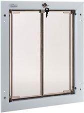 PlexiDor Performance Pet Door - Door Mount Dog Door with Lock -Xl - White