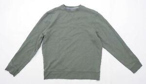 Marks & Spencer Mens Size M Cotton Green Sweatshirt