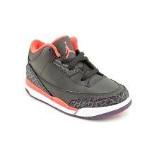 Baby Nike Air Jordan III 3 Retro TD BLACK CRIMSON RED CEMENT Xi Xii Xiii 7C 7 IV