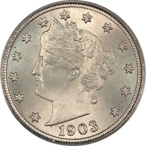 1903 Gem BU Liberty Nickel PCGS MS65 CAC - Lustrous with Original Surfaces!