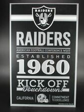 Oakland Raiders Wooden Sign 16 7/8in Nfl Football,Established Wood Sign