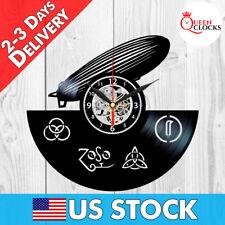 Led Zeppelin Rock Vinyl Record Lp Wall Clock Decor Art Decor Birthday Gift Idea