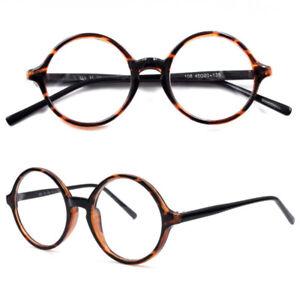 Round Tortoise Eyeglass Frames Spectacles Flexible Glasses Mens Womens Rx DFA318