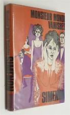 SIMENON Monsieur Monde Vanishes (Hamish Hamilton, 1967)