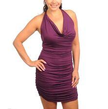 TRAC Hug Me Purple Ruched Plus Mini Dress Open Shoulder Cocktail Clubwear Sz 3X