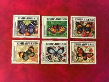ZIMBABWE 2001 MNH BUTTERFLIES CHARAXES PAINTED LADY PANSY FORESTER SAPPHIRE