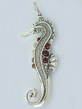 Anhänger Seepferdchen Silber 925 - bunte Bernsteine - Silberanhänger - Seepferd