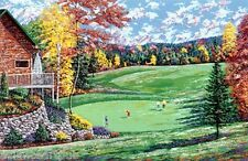 """AUTUMN FOURSOME"" (Golf) s/n Serigraph By Raymond Byram"