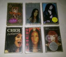 CHER - Lot 6x indonesia cassette - bono sony and cher u2 david bowie madonna aha