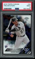 2016 Topps Chrome Trevor Story RC Card #45 PSA 9 Mint Rookie
