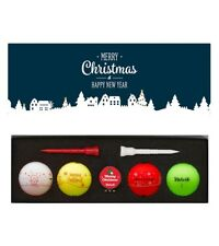 Volvik Vivid Limited Christmas Edition Matte Golf Balls + Metal Ball Marker WOW!