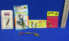 5 Vintage Fishing Lures w/ Original Packaging Burke Little Jos Betts Superlux