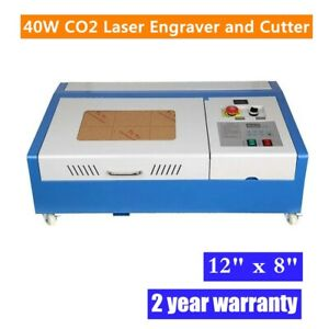 """12"""" x 8"""" 40W CO2 Laser Engraver and Cutter Worktable Engraving Machine FDA"""