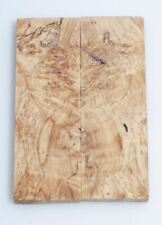"""Spalted English Chestnut Knife Scales - Stabilized & Bookmatched 2 1/8"""" x 6 1/4"""""""