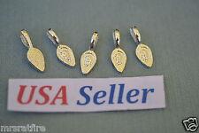 200 Glue-On Pendant Bails, Sterling Silver Plate, Jewelry Making, Aanraku Style