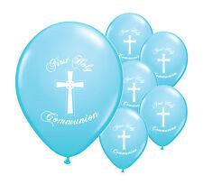 """10 X Azul Primera Sagrada Comunión 12"""" Helio Globos Fiesta Decoraciones (PA)"""