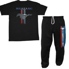 Ford Mustang sweatpants and t-shirt combo ford racing mustang pony gifts for men