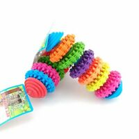 Rubber Pet Dog Puppy Dental Teething Healthy Teeth Gums Chew Play Toy New -S