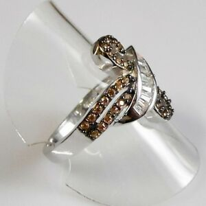 Quarz Baguette Weißtopas Designer Damen Ring 925er Sterlingsilber 58 (18,4 mm Ø)