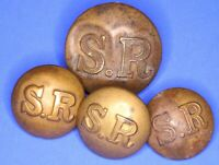Southern Railway (No Rim) 17 & 23mm Brass Transport uniform buttons *[20832]