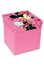 Minnie Mouse Pouf Portaoggetti Pieghevole Sedia Scatola Contenitore Bambini rosa