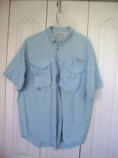 XL  Fishing  BLUE Columbia  Sportswear FIshing  Short Slv Button VENT Shirt