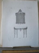 Vintage Print,CONSOLE TABLE+MIRROR,Grohmann,1797,Number 6