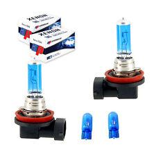 H11 55W Fog Lights Xenon Ice Blue & Free 501 Led Sidelight Bulbs [VAR18]