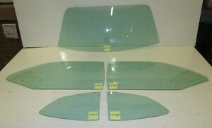 71-72 Dart Demon 70-72 Valiant Duster Door Quarter Back Glass Set Hardtop Green