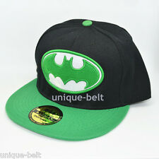 New Green black batman hiphop Costume Snapback Adjustable baseball cap flat hat