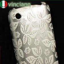 Custodia back cover FOGLIE E FIORI x iPhone 3G S BIANCO