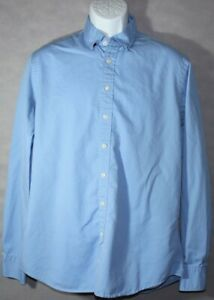 Mens THOMAS PINK JERMYN STREET 15.5 MEDIUM Designer SOLID BLUE L/S DRESS SHIRT