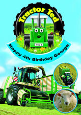 Tractor Ted Birthday Card A5 Personalised with own wording