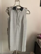 NEW! Ann Taylor Dress in Black and White Pattern w/Black Collar Women's Size 2