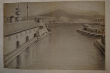DESSIN D'UN MARIN EN 1909 PORT DE TOULON  A BORD DU CECILLE
