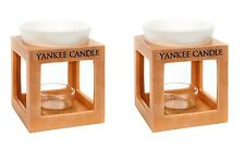2 x Yankee Candle Rustic Modern Oill Burner Melt Warmer TeaLight Holder Gift Set