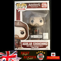 Funko Pop Aguilar 379 Crouching Assassins Creed Box Damage but Figure MINT
