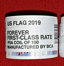 One (1) Roll /Coil of 2019 US FLAG USPS FOREVER Postage Stamps Mfg by BCA # 5343