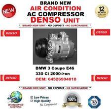DENSO AIR CONDITION AC COMPRESSOR for BMW 3 Coupe E46 330 Ci 2000-> 64526904018