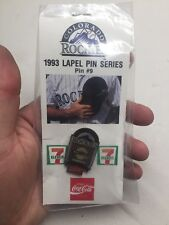 Souvenir Lapel Hat Pin #9 Colorado Rockies Baseball 1993 Giants Coca-Cola