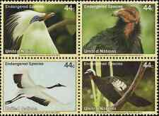 Timbres Oiseaux Nations Unies New York 1250/3 ** année 2011 lot 25592
